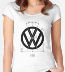 Volkswagen Logo Angles Women's Fitted Scoop T-Shirt