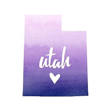 Utah - purple watercolor by gracehertlein