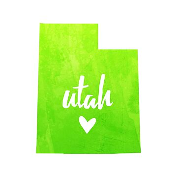 Utah - lime green by gracehertlein