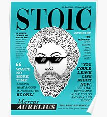 Stoisches Poster. Marcus Aurelius Poster