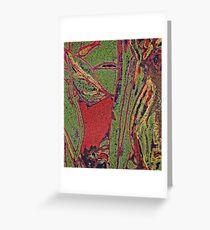 abstrakte Herbstblätter Grußkarte