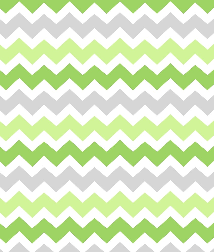 Quot Lime Green Grey Chevron Pattern Quot By Dreamingmind Redbubble