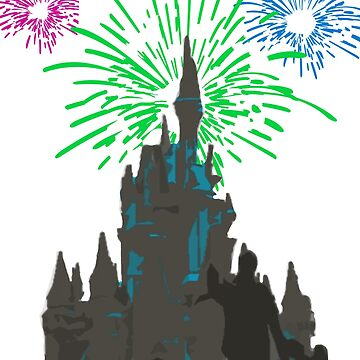 The Castle's Fireworks Display by Disnerdland