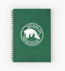 Hay Burr Inn Equine Rescue Logo Design Spiral Notebook
