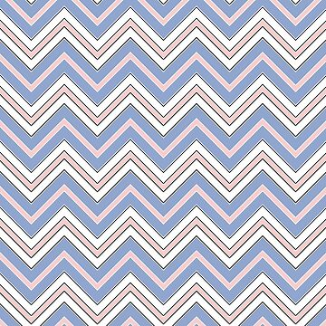 Chevron Pattern | Zig Zags | Rose Quartz and Serenity | Pantone Colors of the Year 2016 by EclecticAtHeART