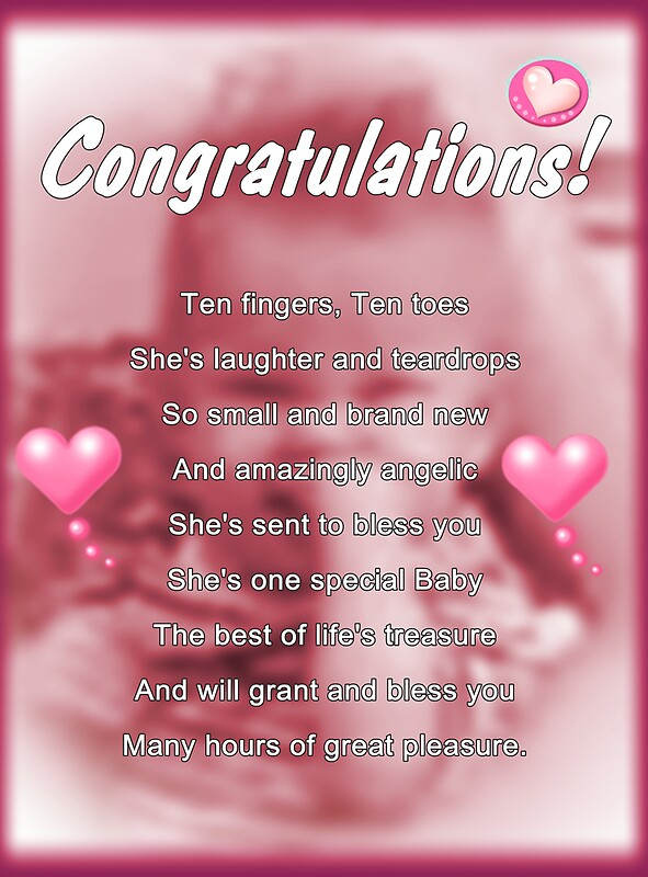 Quot New Baby Girl Quot By Greeting Cards By Tracy Devore Redbubble