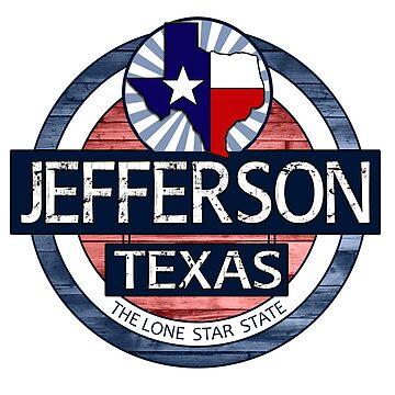Jefferson Texas rustic wood circle by artisticattitud