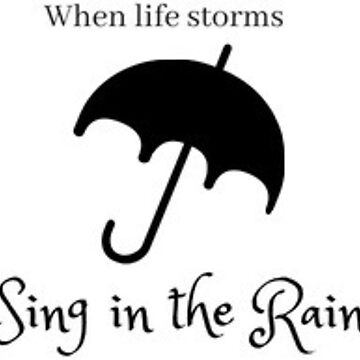 Singing in the rain sticker  by leanicolee
