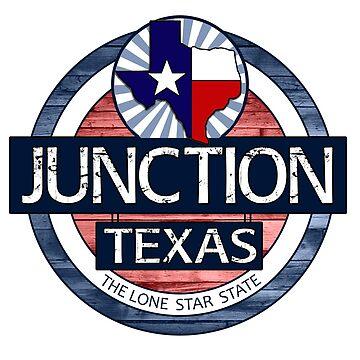 Junction Texas rustic wood circle by artisticattitud