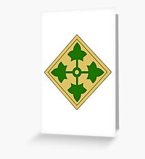 4th Infantry Division Greeting Card