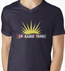 S.U.N prairie | strong |||| Men's V-Neck T-Shirt