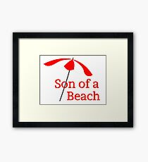Vacation Holiday Beach Framed Print