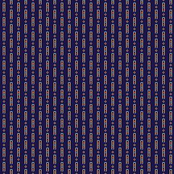 Geometric shapes rails vintage pattern by mrhighsky