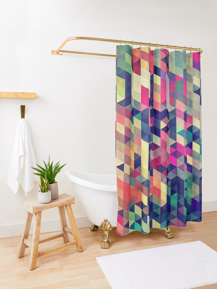 Alternate view of atym Shower Curtain