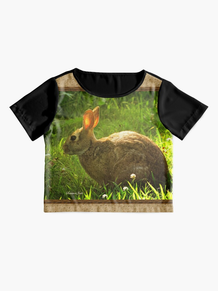 Alternate view of Wild Bunny ~ In a Patch of Clover Chiffon Top
