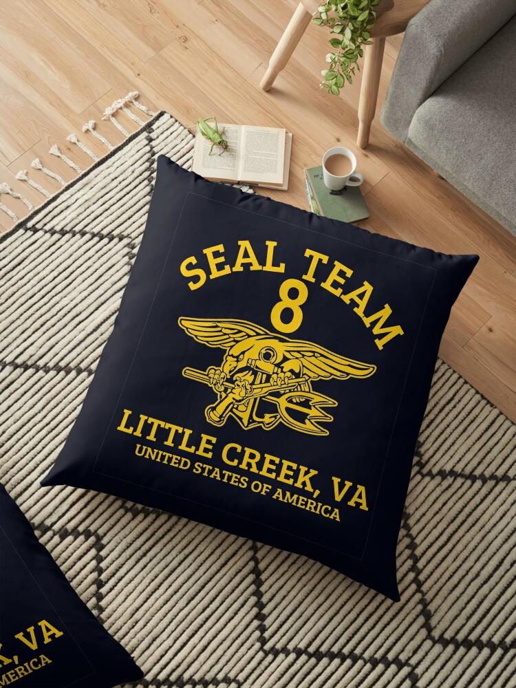 'U S  Navy SEALS - Seal Team 8' Floor Pillow by wikingershirts