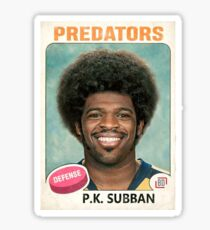 P.K. Subban Predators 1970s Hockey Card Sticker