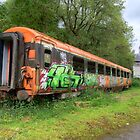 Abandoned Train by Ludwig Wagner