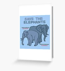 Save the Elephants Greeting Card