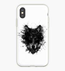 Black Villalobos Wolf Art iPhone Case