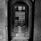 Fort Barrancas' Archs and Doors I (B&W) by Magricely Diaz