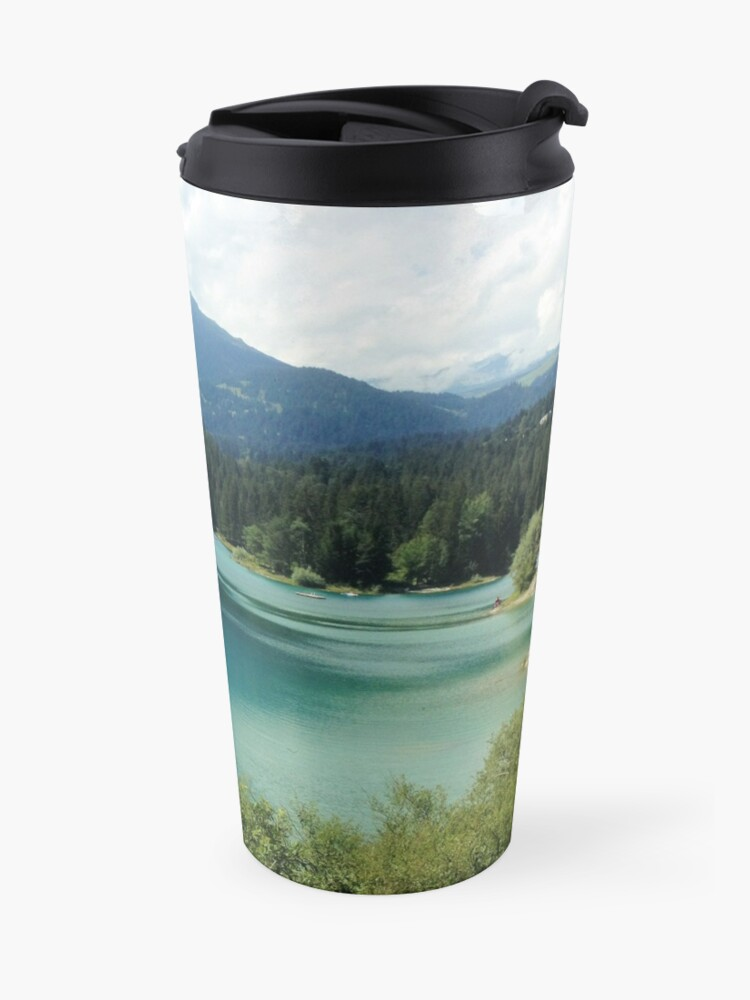 Alternate view of Oh, the Mountains are Calling Travel Mug