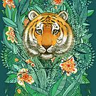 «Tiger Tangle en color» de micklyn