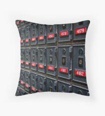 Mailboxes Throw Pillow