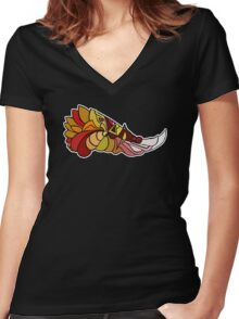 Stylised Phoenix Women's Fitted V-Neck T-Shirt