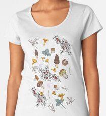 dark wild forest mushrooms Women's Premium T-Shirt