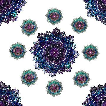 Blue purple mandala pattern by Lalale