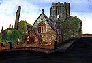 172 - SAINT CUTHBERT'S CHURCH, BLYTH - DAVE EDWARDS - WATERCOLOUR - 2007 by BLYTHART