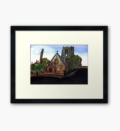 172 - SAINT CUTHBERT'S CHURCH, BLYTH - DAVE EDWARDS - WATERCOLOUR - 2007 Framed Print