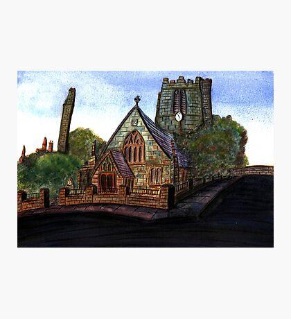 172 - SAINT CUTHBERT'S CHURCH, BLYTH - DAVE EDWARDS - WATERCOLOUR - 2007 Photographic Print