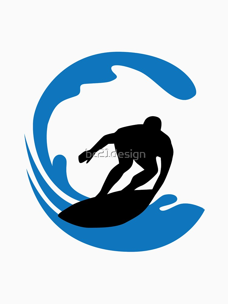 surfer and waves by bc21design