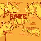 Save the Rhino by PepomintNarwhal