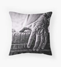 ...the road travelled... Throw Pillow
