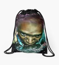 when boredom strikes Drawstring Bag