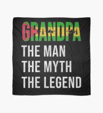 Sao Tomean Grandpa The Man The Myth The Legend, Gift For Sao Tomean Granddad From  Sao Tome And Principe -  Sao Tome And Principe Flag in Grandpa Scarf