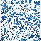 Blue Floral Pattern by zephyrra