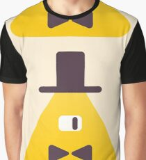 Bill Cipher from Gravity Falls Graphic T-Shirt