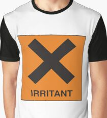 Irritant - Hazard Sign Novelty Funny Silly Joke Graphic T-Shirt