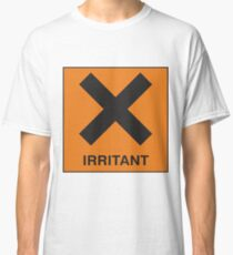 Irritant - Hazard Sign Novelty Funny Silly Joke Classic T-Shirt
