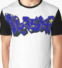 Alaska Flag Graffiti (Graffiti Muscle) Graphic T-Shirt