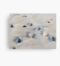 Pebbles on the sand Metal Print