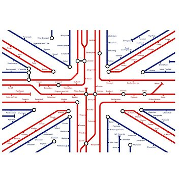 UK Flag in the underground style - T-shirt by moviemaniacs