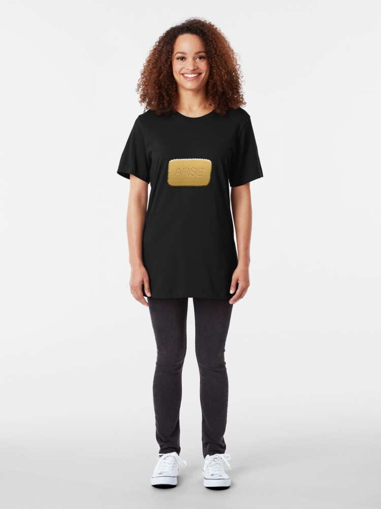 Alternate view of Arse biscuits!! Slim Fit T-Shirt