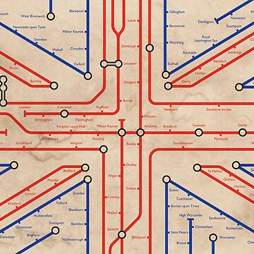 UK Flag in the underground style - Poster by moviemaniacs