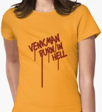 Venkman Burn in Hell Women's Fitted T-Shirt