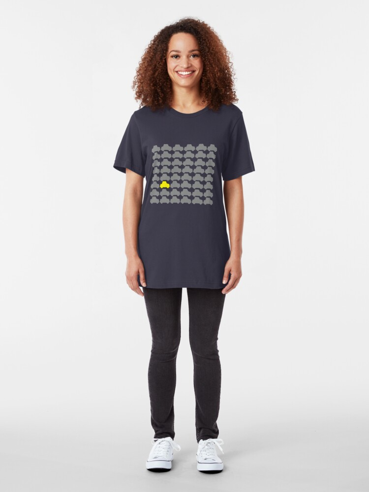 Alternate view of You're Always Playing Yellow Car... Slim Fit T-Shirt